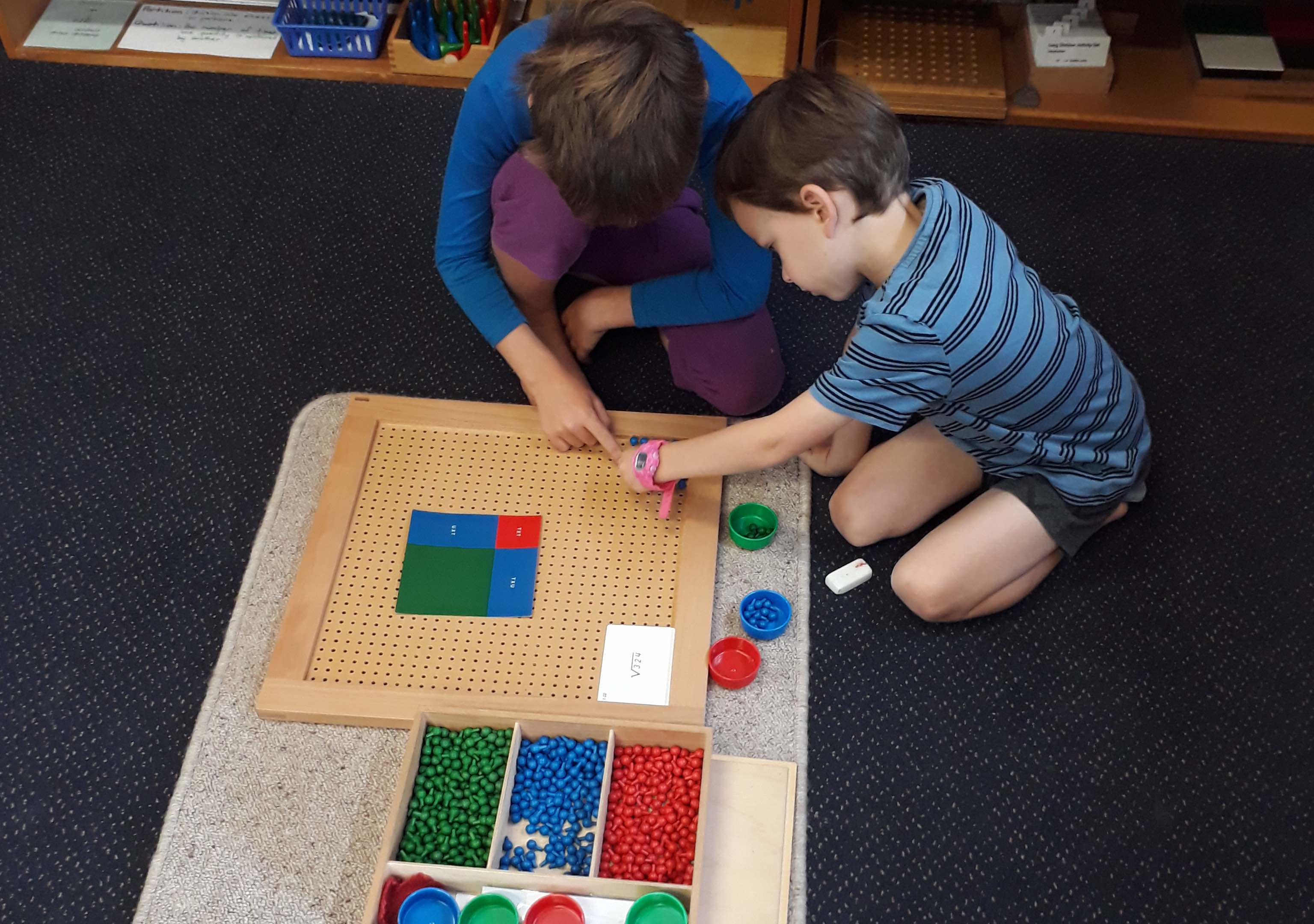 Montessori maths mahi at Port Ahuriri Primary School