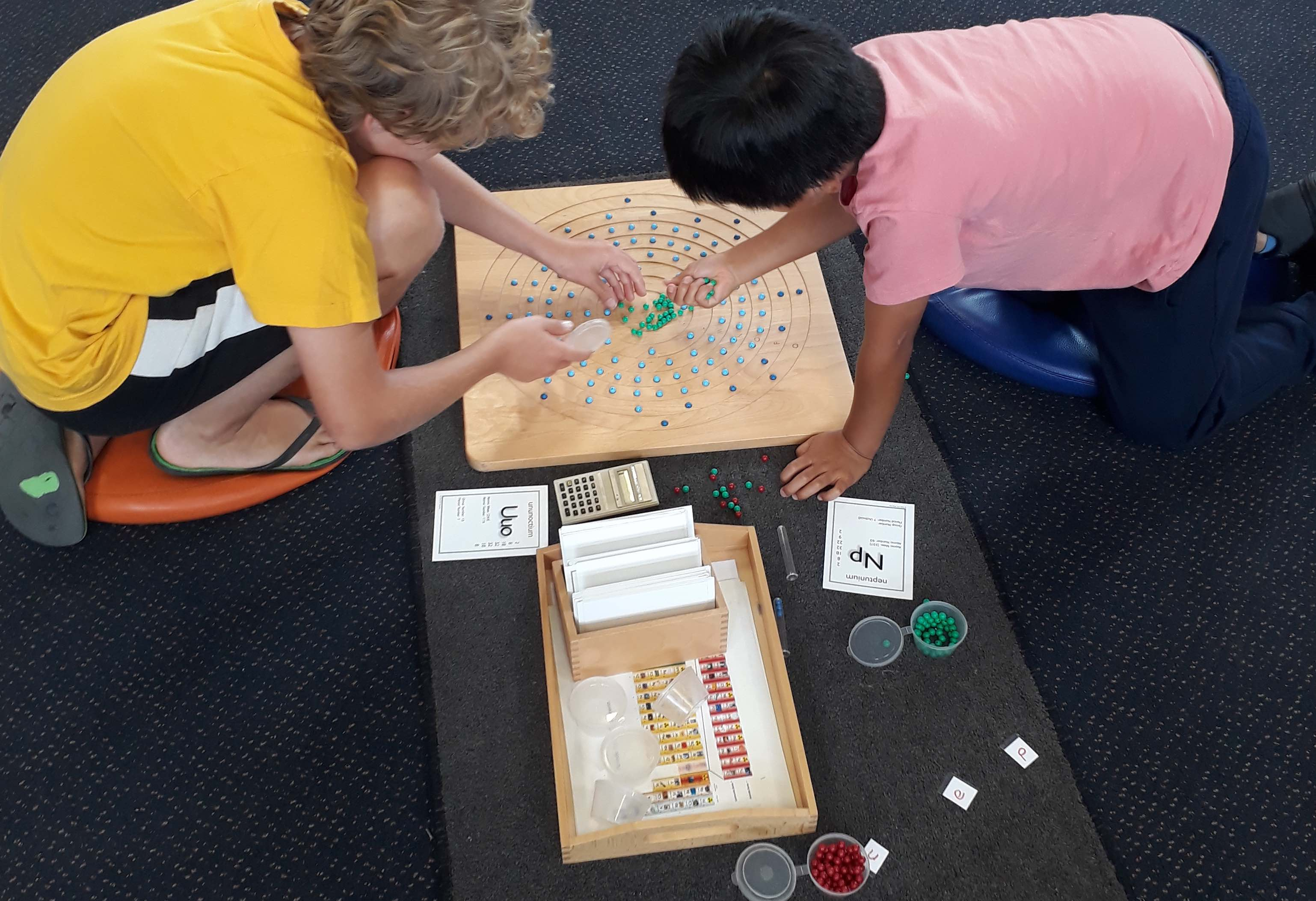 Mahi in the Montessori classroom at Port Ahuriri School